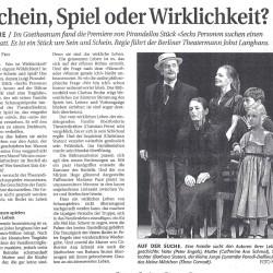 Sechs Personen suchen einen Autor, Basellandschaftliche Zeitung 19.03.2002